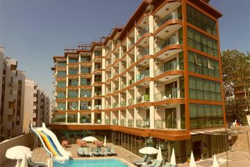 Отель Grand Bayar Beach Hotel Турция, Обагель, фото 1
